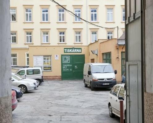 Provozovna Tiskárny Bílý Slon v Plzni