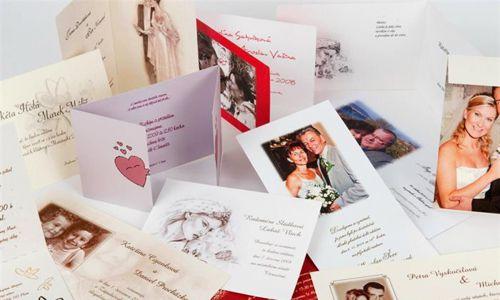 Svatební oznámení tisková grafika